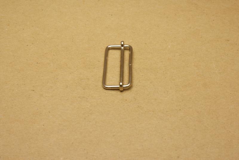 Schuifgesp nikkel 35 mm