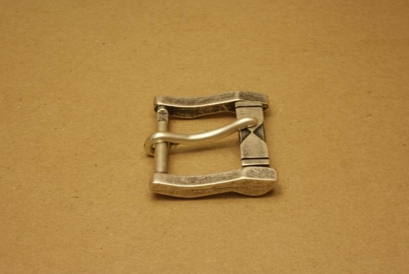 Gesp oud nikkel 40 mm
