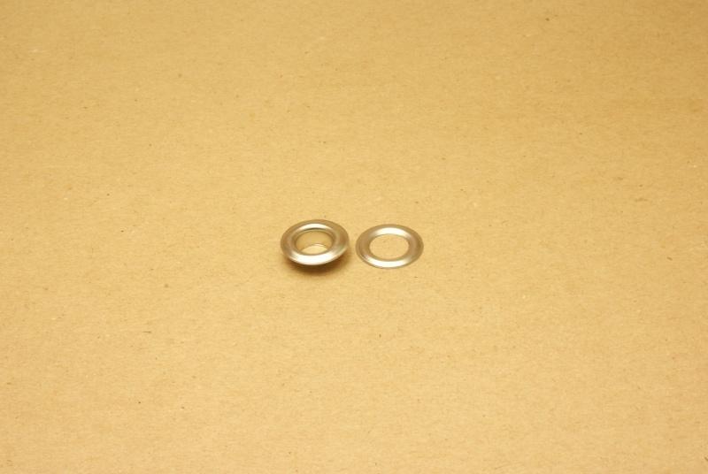 Zeilring nikkel 9mm (100)