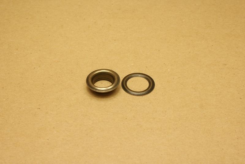 Zeilring oud goud 15mm (100)