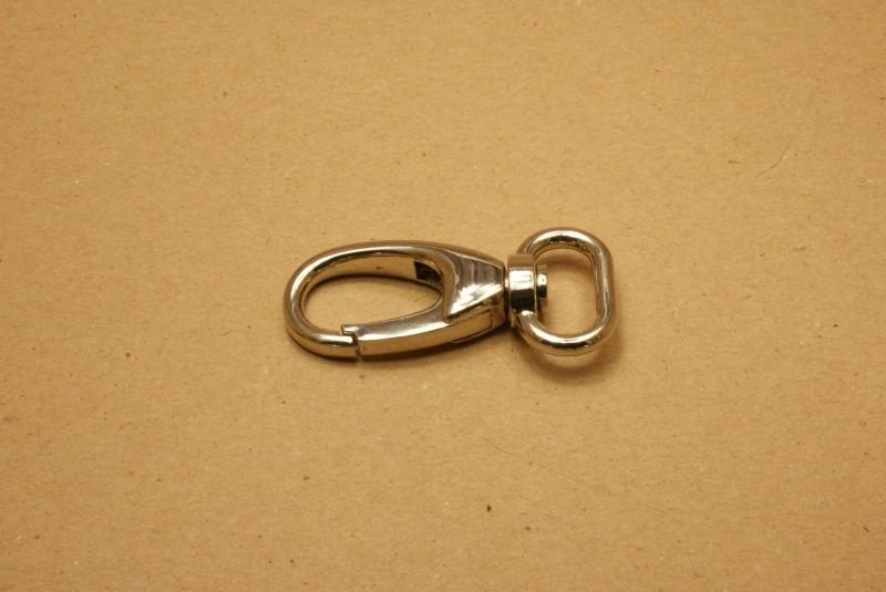 Musqueton nikkel, bandbreedte 20 mm