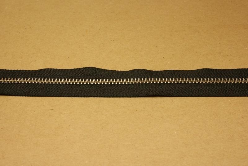 Rits YKK 5mm zwart/nikkel