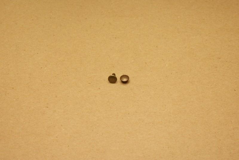 Holnieten dubbele kop oud goud 33/8 (100)