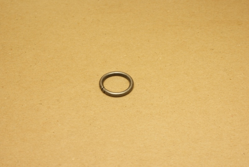 Ring ongelast oud nikkel 20 mm