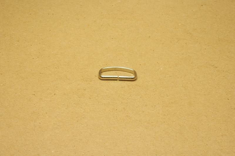 Passant ongelast 25mm nikkel