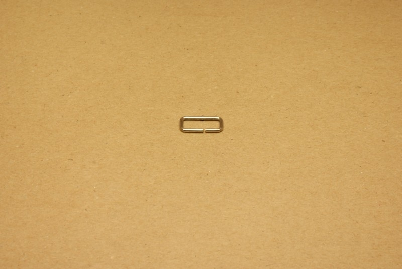 Ring rechthoek ongelast 15mm nikkel
