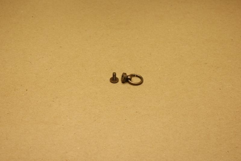 Geweerknop met ring oud goud