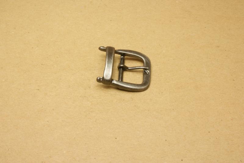 Gesp oud nikkel 25 mm **Nieuw**