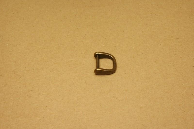 Handvatbevestiging oud goud 16mm