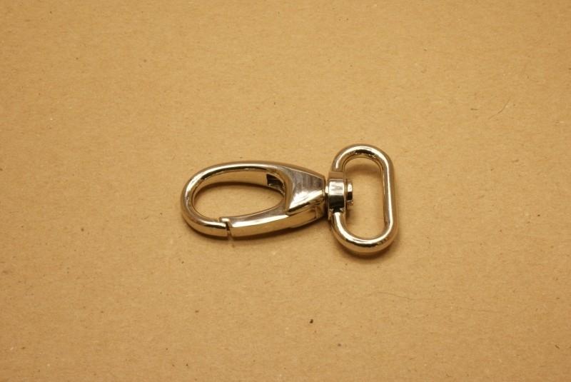 Musqueton nikkel, bandbreedte 25 mm