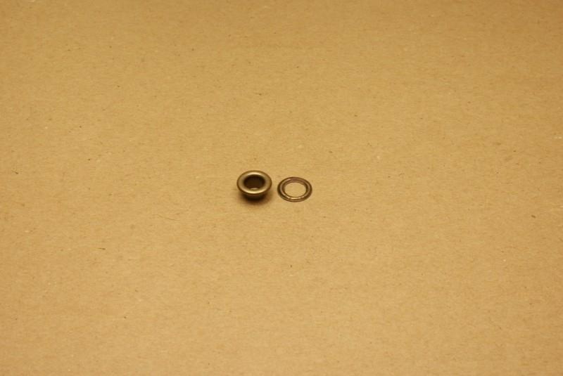 Zeilring oud goud 6mm (100)