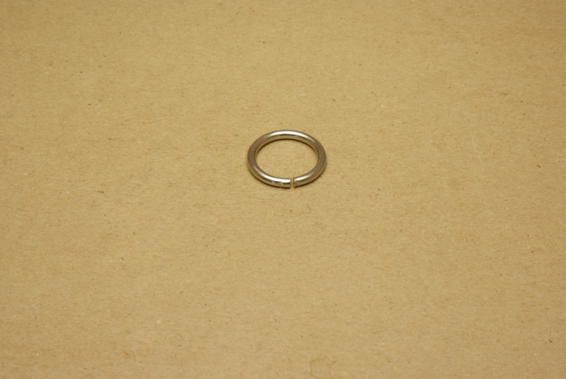 Ring ongelast nikkel 20 mm