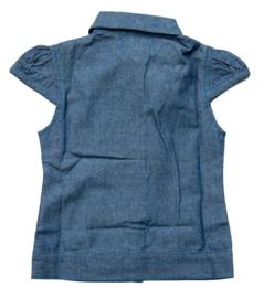 Blauwe blouse van Dottjes