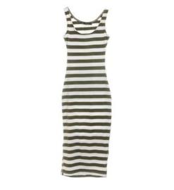 Be a Diva gestreepte jurk