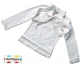 Witte bolero + shirt van Dottjes