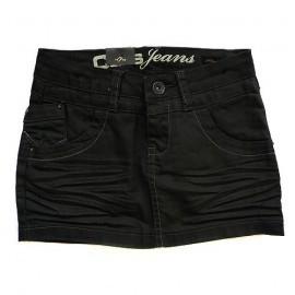 Cars jeansrokje `Imps Black Coated`