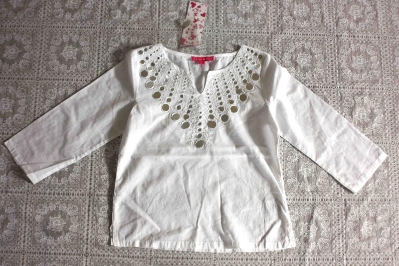Witte blouse van Derhy (8/10jr) mt.134