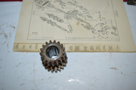 Bsa 24-4221 gearbox layshaft gear 17-20 tanden