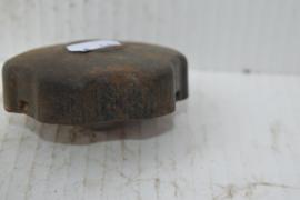 Benzinetank dop metaal zwart 6 vinger grepen