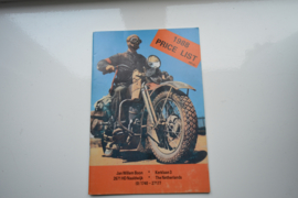 Harley Davidson Jan Willem Boon prijslijst 1988