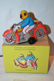 Blik Speelgoed Motor met Zijspan 1015