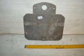 Kentekenplaat 19 cm achterzijde zink
