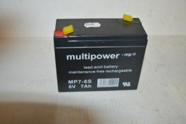 Accu/batterij 6 volt MP7-6S onderhoud vrij