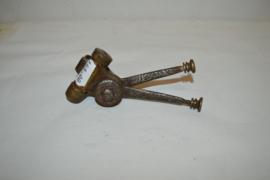 Manette dubbel gas 1920-1930 duims /25 mm