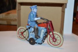 Blik Speelgoed Politie man op motor