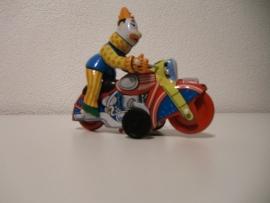 Blikkenspeelgoed motor met clown