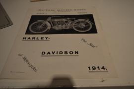 Harley Davison folder 1914 de kolk Delft