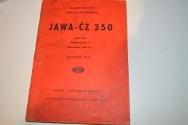 Jawa/CZ 350 2 cilinders 1954 onderdeln boek