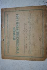 Bewijs van erkend rijwielhandelaar hersteller 1931
