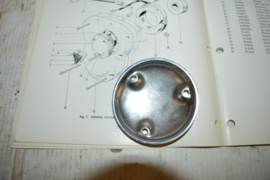 Triumph motorblok ontsteking deksel chroom Trident/T150/T160