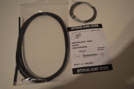 Koppeling/remkabel- zwart/gevoerd
