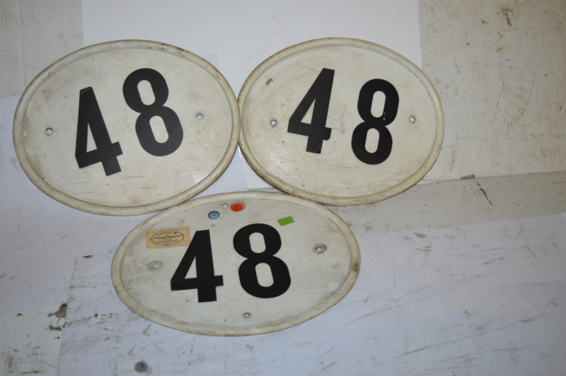 Cross nummer plaat/riders plate