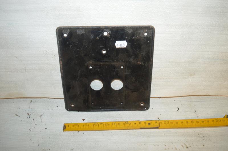 Kentekenplaat 17 cm Achterzijde