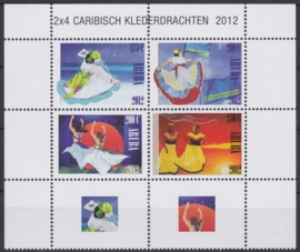 NVPH  613-616  Caribische Klederdrachten Postfris  2012 A-0878