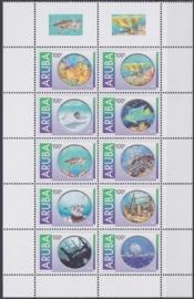 NVPH  635-644  Onderwaterleven en duiken  Postfris  2012 A-0866