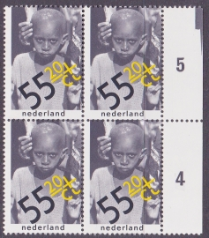 Plaatfout  1188 P & PM  Postfris  in blok van 4  Cataloguswaarde  28.00  E-5720