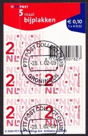 NVPH V2034a Bijplakzegels  2002  Gestempeld cataloguswaarde 1,00 E-2510