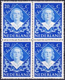 Plaatfout  507 P Postfris  in blok van 4  Cataloguswaarde 25.00