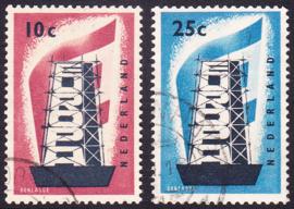 NVPH  681-682 Europazegels 1956 Gebruikt