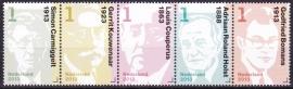 NVPH 3059-3063 Nederlandse Schrijvers strook van 5 Postfris  A-0494
