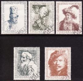 NVPH  671-675 Zomerzegels 1956 Rembrandt Gebruikt  CW  25.50  E-2160