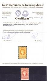 NVPH   101+ plaatfout 101P Jubileum 1913 Ongebruikt met Certificaat NKD Cataloguswaarde 1200.00  A-0317