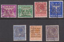 NVPH  D9-15 Dienstzegels gebruikt Cataloguswaarde 62.50  E-3348