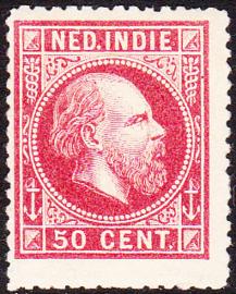 NVPH 15A Koning Willem III Ongebruikt cataloguswaarde: 50,00