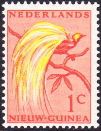 Plaatfout Ned. Nieuw Guinea 25 PM3 Postfris