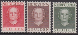NVPH 19-21 ''en face'' Hoge waarden Postfris cataloguswaarde 52,50 E-0933